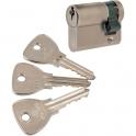 Demi cylindre varié nickelé - 30 x 10 mm - Alpha - Bricard