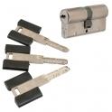 Cylindre 2 entrées varié nickelé - 30 x 30 mm - Dual XP S - Bricard