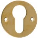 Rosace ronde laiton poli - Clé I - Emka