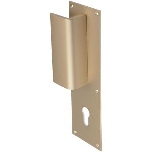 poign e de porte pali re simple champagne cl i aileron vachette cazabox. Black Bedroom Furniture Sets. Home Design Ideas