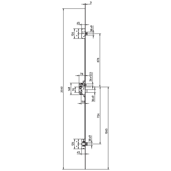 Cylindre 2 entr es nickel 30 x 30 mm pour serrure s rie 8161 dual xp s bricard cazabox - Montage serrure 3 points encastrable ...