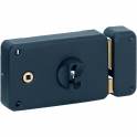 Serrure en applique noire droite à fouillot - Clé I - Axe à 55 mm - Classique - thirard