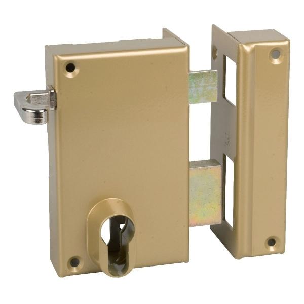 serrure en applique bronze droite tirage cl i axe 45 s rie 812 dom cazabox. Black Bedroom Furniture Sets. Home Design Ideas