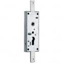 Serrure verticale pour porte basculante zingué en applique - Clé I - WSS