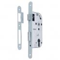 Serrure à larder acier électrozingué à fouillot - Clé I - Axe à 50 mm - Série 800 - Bricard