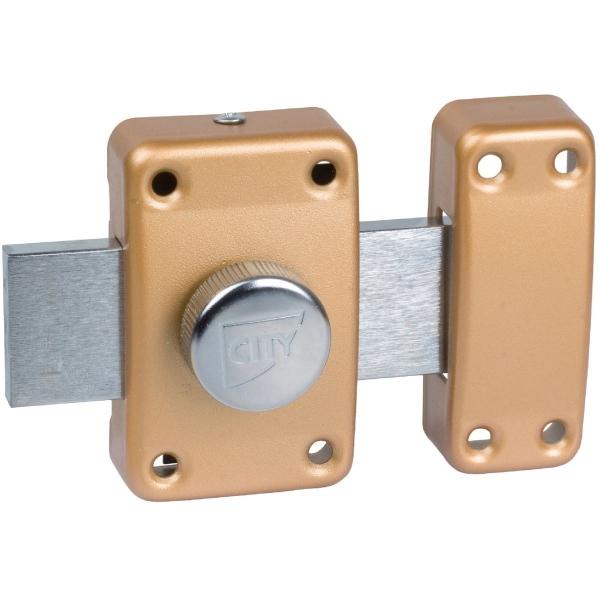 verrou bouton bronze cylindre 30 mm p ne 110 mm city 25 is o cazabox. Black Bedroom Furniture Sets. Home Design Ideas