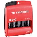 Jeu d'embouts mixte - 50 mm à gorge - Coffret de 10 pièces - Facom