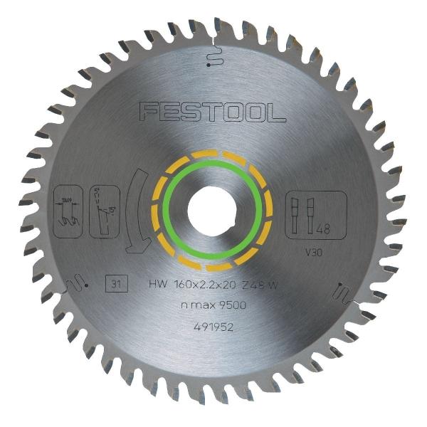 Lame de scie à denture alternée - Ø 160 mm - 48 dents - Festool