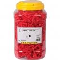 Cheville à expansion rouge à collerette - Ø 8 mm - Secur - Seau de 1500 pièces - ING Fixation