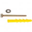Cheville à expansion jaune - Ø 12 mm - Boîte de 25 pièces - ING Fixation