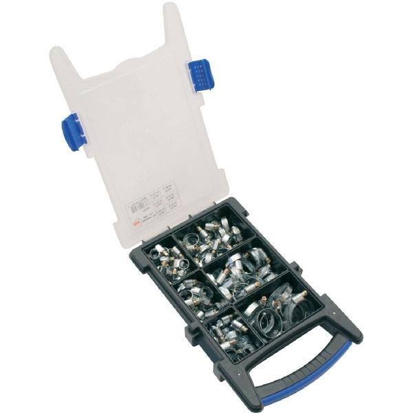 Collier bande non perforée W1 acier zingué blanc - 9 mm - Coffret de 100 pièces - Ace