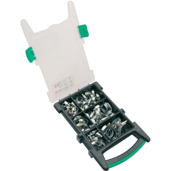Collier bande non perforée W2 inox / acier zingué - Largeur 9 mm - Coffret de 100 pièces - Ace