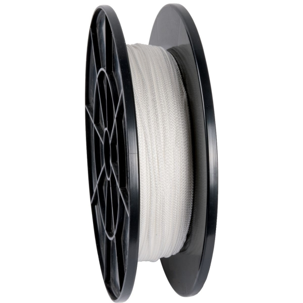 Bobine de corde nylon tressé blanc - Ø 2 mm - Corderies Tournonaises