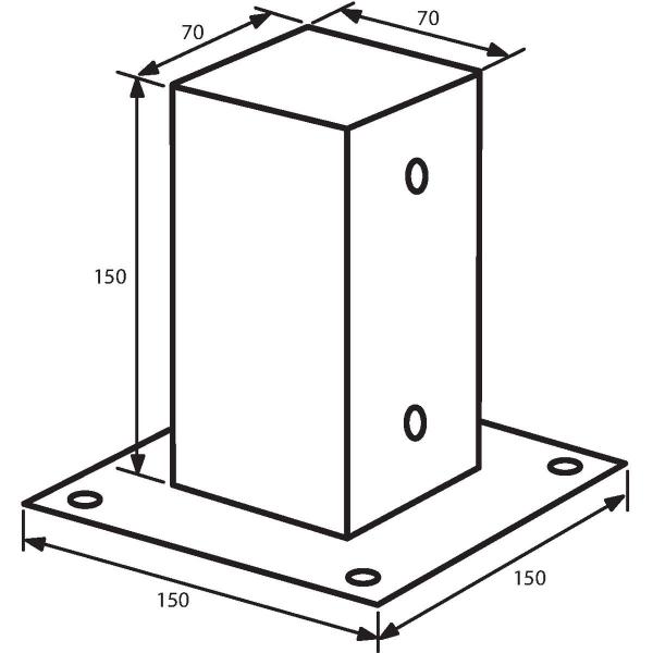 support poteau visser gah alberts cazabox. Black Bedroom Furniture Sets. Home Design Ideas