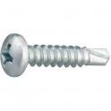 Vis tôle tête cylindrique bombé PH2 - Ø 3,5 mm - 9,5 mm - Zingué blanc - Boîte de 500 pièces - Viswood