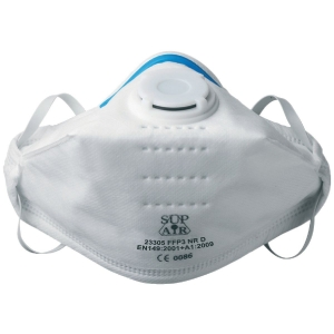 Masque pliable avec soupape FFP3 - Vendu par 20 - Sup air