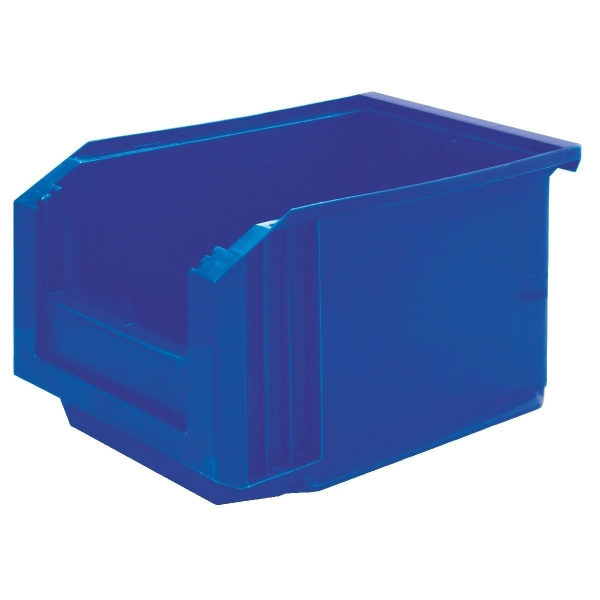 Bac plastique bleu empilable - 3 L - Novap