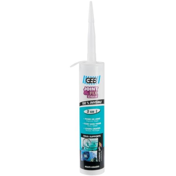 Joint d'étanchéité - 280 ml - Joint et Fix Cristal - Geb