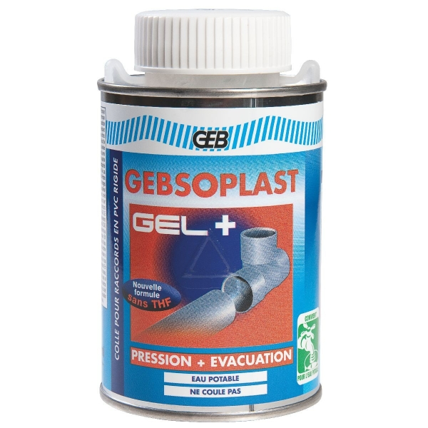 Colle PVC spécial pression - 250 ml - Gebsoplast gel - Geb