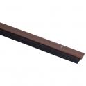 Plinthe plastique marron à brosse - 0,93 m - Bas de porte - jean Jourjon