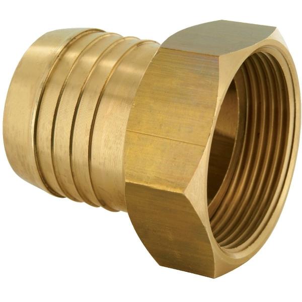 Racord laiton cannelé droit - F 1/2' - Tuyau Ø 13 mm - Codital