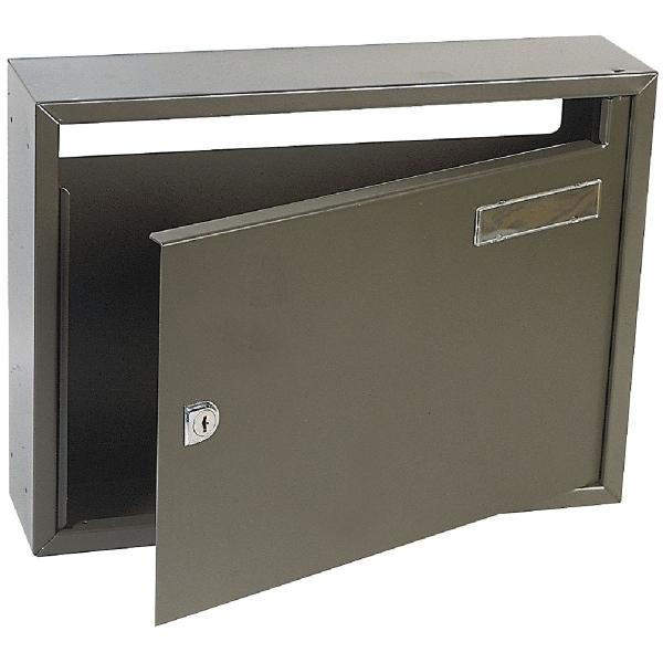 bo te aux lettres marron commerciale 2 decayeux cazabox. Black Bedroom Furniture Sets. Home Design Ideas