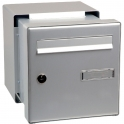 Boîte aux lettres en aluminium double face - Passe-mur - Decayeux