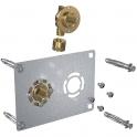 "Sortie de cloison double à sertir - Entraxe 50 mm - PER Ø 12 mm - F 1/2"" - Robifix - Watts industries"