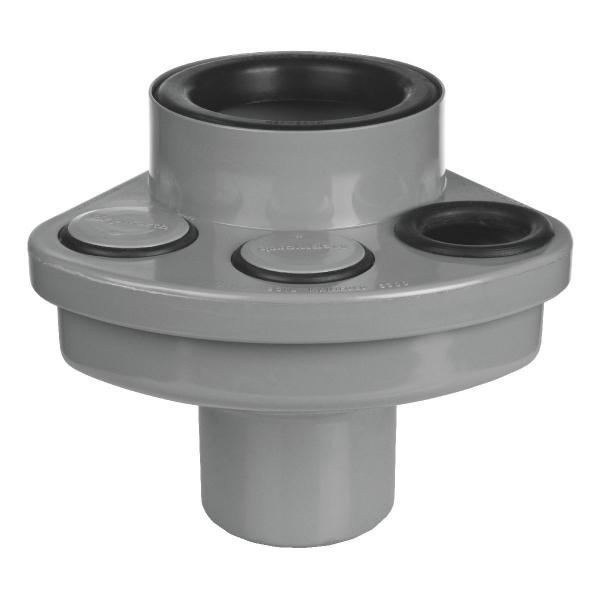 Multi-connecteur PVC gris - Ø 100 mm - 3 branchements Ø 32 / 40 mm - Wavin