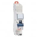 Disjoncteur 1 P+N C2 - 4,5 KA courbe C - 2 A - 1 module - Connexion auto / auto - Fixmatic - Gewiss