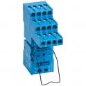 Support avec bornes à cage bleu - série 94 - Finder