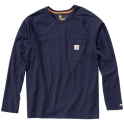 T-Shirt bleu manches longues - Force - Taille S - Carhartt