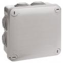 Boîte grise carrée - 105 mm - 7 embouts - Couvercle vis 1/4 de tour - Plexo - Legrand
