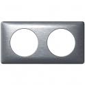 Plaque Anodisée Aluminium - 2 postes - Céliane - Legrand
