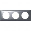 Plaque Anodisée Aluminium - 3 postes - Céliane - Legrand