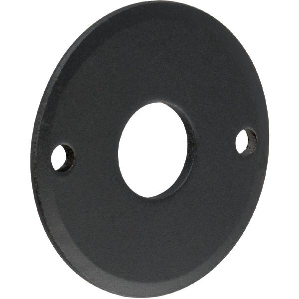 Rosace ronde acier noire - Bec de cane - Brionne
