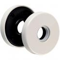 Rosace ronde gris manhattan - Bec de cane - NY92F et NY94F - La paire - Normbau