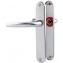 Poignée de porte sur plaque argent - Bec de cane - 186 mm - San Diego - Hoppe et cie