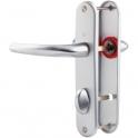 Poignée de porte sur plaque argent - Condamnation - 186 mm - San Diego - Hoppe et cie