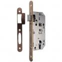 Serrure à larder Laitonnée réversible à fouillot - Clé I - Axe à 40 mm - Série D450 - Vachette