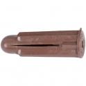 Cheville à expansion marron - Crampon - Boîte de 100 pièces - Vinmer
