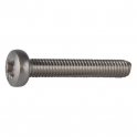 Vis métaux tête cylindrique bombé PZ2 - Ø 4 mm - 16 mm - Inox - Boîte de 200 pièces - Viswood