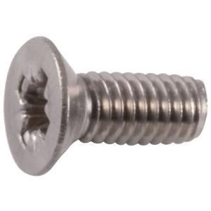 Vis métaux tête fraisé PZ3 - Ø 6 mm - 25 mm - Inox - Boîte de 100 pièces - Viswood