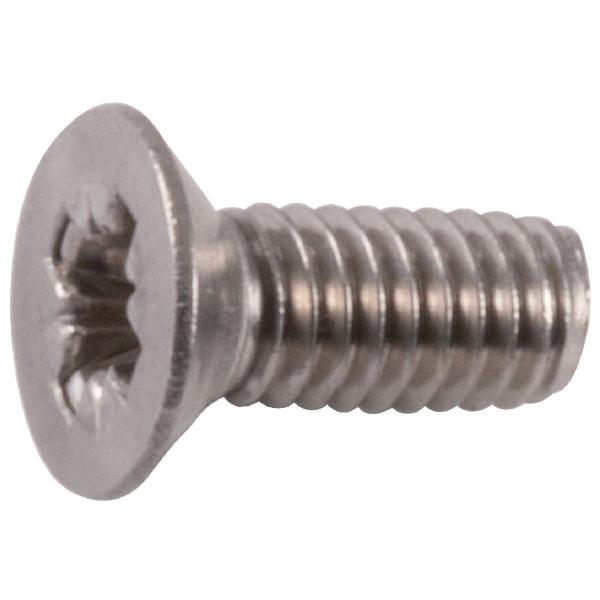 Vis métaux tête fraisé PZ3 - Ø 6 mm - 40 mm - Inox - Boîte de 50 pièces - Viswood