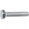 Vis métaux tête hexagonal - Ø 6 mm - 16 mm - Zingué blanc - Boîte de 100 pièces - Vissal