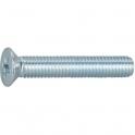 Vis métaux tête fraisé PZ2 - Ø 5 mm - 16 mm - Zingué blanc - Boîte de 200 pièces - Vissal
