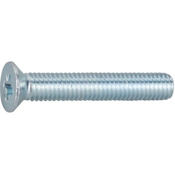 Vis métaux tête fraisé PZ3 - Ø 6 mm - 30 mm - Zingué blanc - Boîte de 200 pièces - Vissal