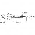 Vis tôle tête cylindrique bombé PZ2 - Ø 4,2 mm - 50,8 mm - Inox - Boîte de 100 pièces - Viswood
