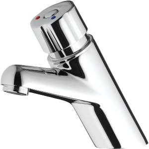 Mitigeur temporisé lavabo - Bouton laiton chromé - Presto 4000 S - Presto