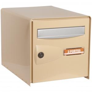 bo te aux lettres beige double face probox decayeux. Black Bedroom Furniture Sets. Home Design Ideas
